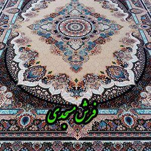 فرش ماشینی 1000 شانه کاشان طرح دیبا نسکافه ای