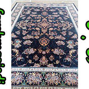 فرش ماشینی 1000 شانه کاشان طرح قاب بهشت