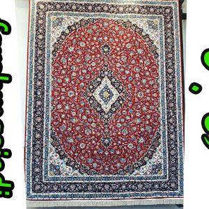 فرش ماشینی 1000 شانه طرح کاشان لاکی