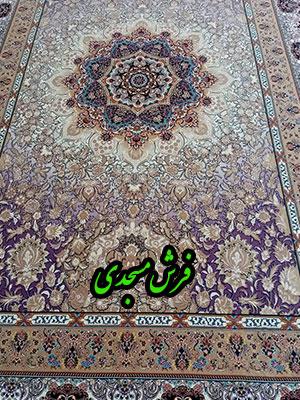 فرش ماشینی 1000 شانه کاشان طرح پاییزان سوسنی