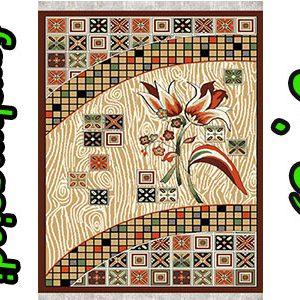 تولیدی گلیم فرش ماشینی آشپزخانه طرح گل رز