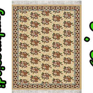 گلیم فرش ماشینی طرح سوسن