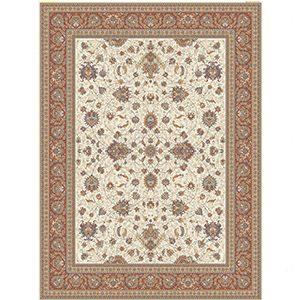 فرش ماشینی کاشان طرح افشان سنتی کرم