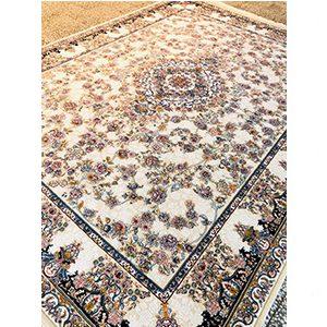 فرش ماشینی گل برجسته طرح آنیسا صدفی