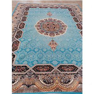 فرش ماشینی طرح هالیدی آبی