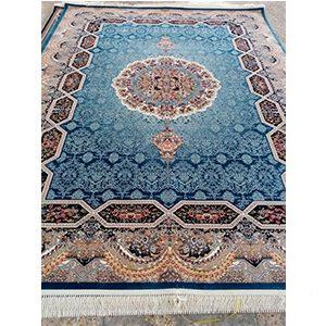 فرش ماشینی کاشان طرح هالیدی کاربنی