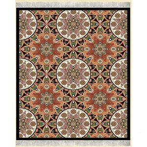 گلیم فرش اشپزخانه هندسی مشکی