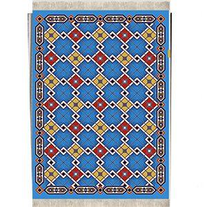 گلیم فرش اشپزخانه کریستال آبی