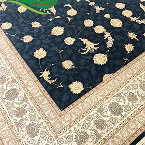 فرش ماشینی طرح لاکچری کاربنی