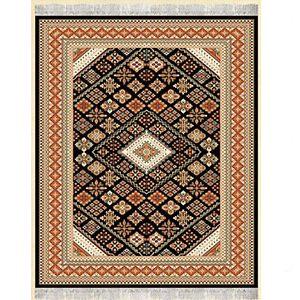 گلیم فرش طرح طوبی مشکی
