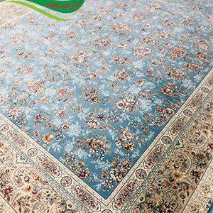 فرش ماشینی 1200 شانه افشان بهشت ابی فیروزه ای