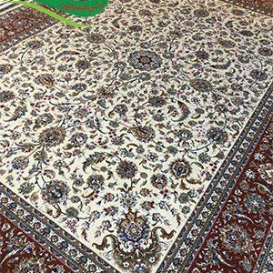 فرش ماشینی طرح افشان صفوی