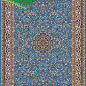 فرش ماشینی 700 شانه افشان ترنج آبی