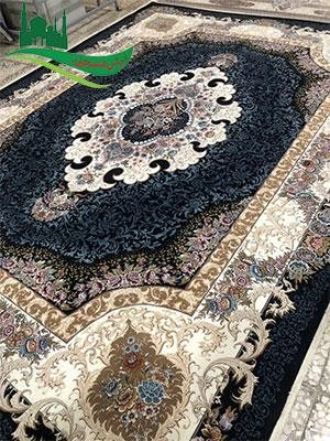 فرش ماشینی 1000 شانه طرح بهشت