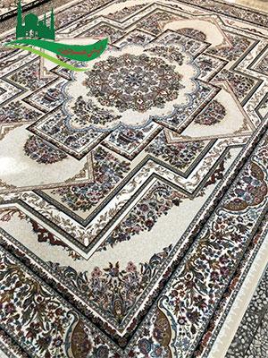 فرش ماشینی 1000 شانه کریمس