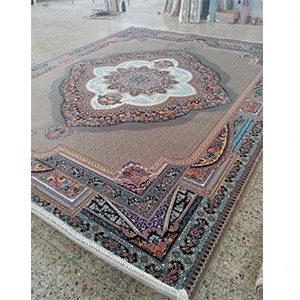 فرش ماشینی 700 شانه باغ معلق نسکافه ای