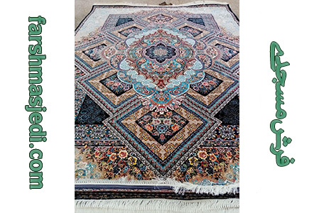 فرش ماشینی 700 شانه ارزو سرمه ای