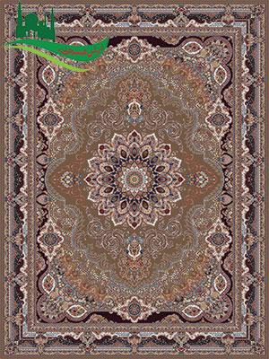 فرش مشاینی 700 شانه آریا مهر گردویی