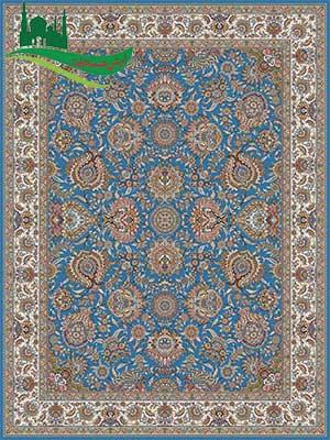 فرش ماشینی 700 شانه باغ بهشت آبی