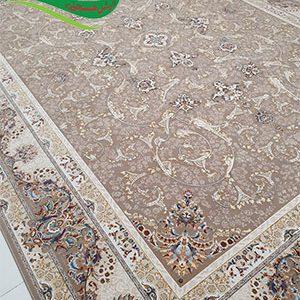 فرش ماشینی 1200 شانه اسلیمی بادامی