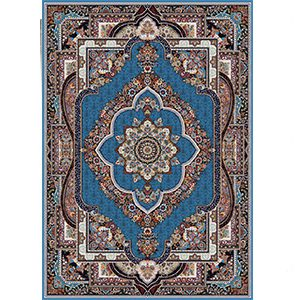 فرش ماشینی 700 شانه قاب بهشت ابی