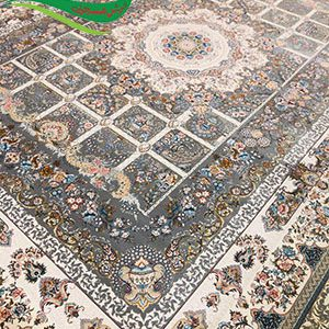 فرش ماشینی 1200 شانه خانه رویایی طوسی