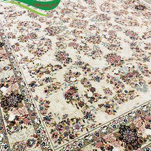 فرش ماشینی 1000 شانه نیلو کرم