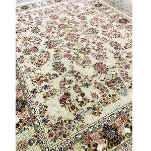 فرش ماشینی طرح نیلو کرم