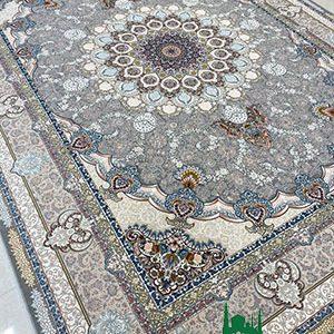 فرش ماشینی 1200 شانه طرح تندیس دودی