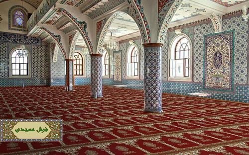 فرش سجاده ای طرح متین لاکی