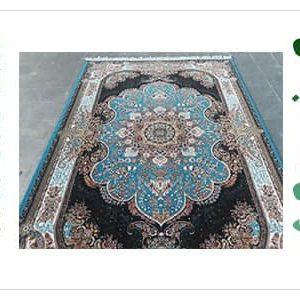 فرش ماشینی نسترن آبی